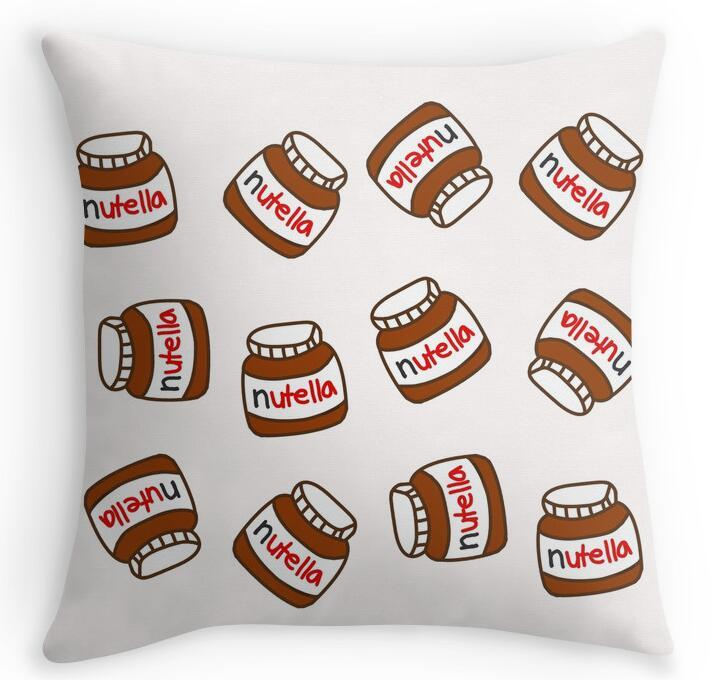 Cool Cute Tumblr Nutella Pattern Home Decorative Accent Throw Pillow Cover Cushion Case Pillow ...