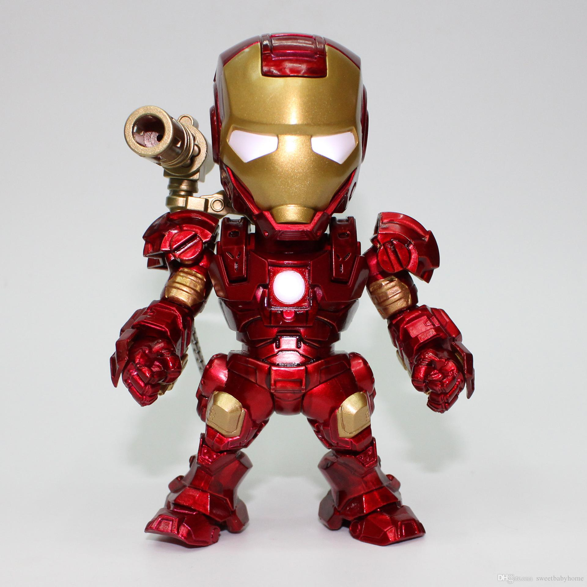 2017 iron man voice control with lamp mini robots action - Mini iron man ...