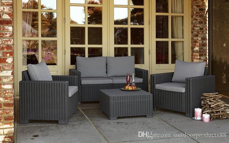 2017 High Quality Environmental Pe Rattan Wicker Sofa Set
