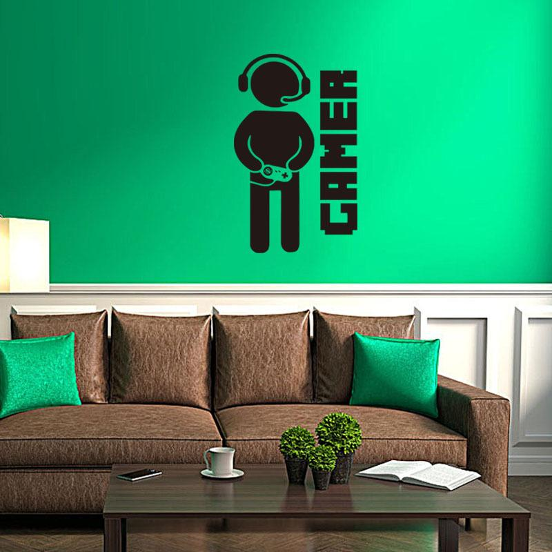 2016 New Video Game Wall Sticker Gamer Wall Decal Art For Home Decor Removable Vinyl Wall Mural
