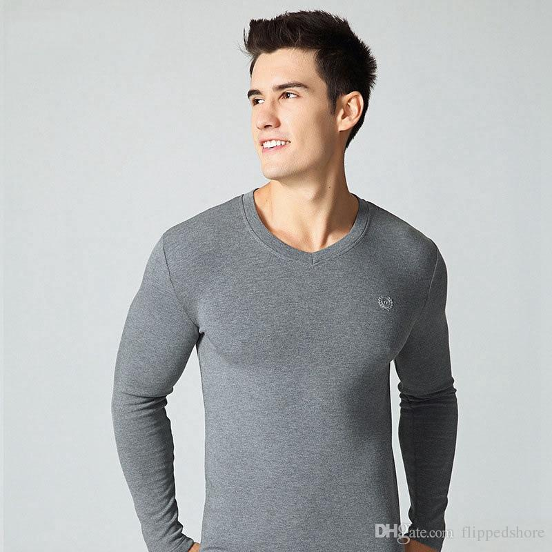Hot Winter Mens Warm Thermal Underwear Mens Long Johns Sexy Black ...
