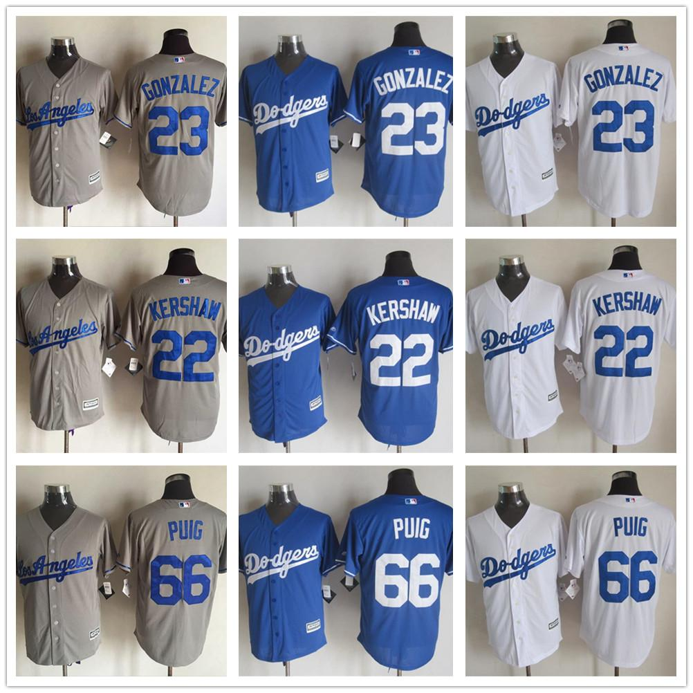 Nouvelle Jersey Cool Los Angeles Dodgers Jersey # 22 Clayton Kershaw # 23 Adrian