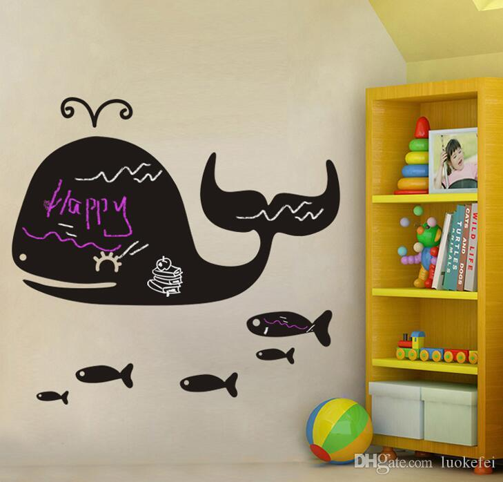 Whale Posted Blackboard Classroom Can Remove Childrenu0027s Room Wall  Decoration Children Cartoon Wall Stickers Removeable Wall Stickers Big  Whale Wall Stickers ... Part 93