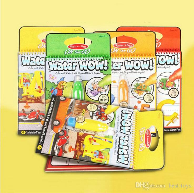 Coloring Books Water Painting Bundle Animals Alphabet Numbers ...
