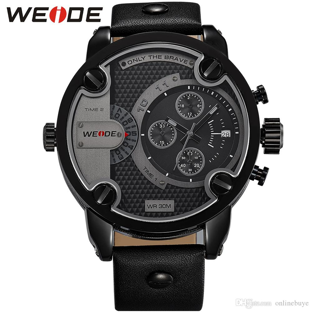 new weide watches men military quartz sports watch luxury brand new weide watches men military quartz sports watch luxury brand leather strap watch wristwatches water resistant