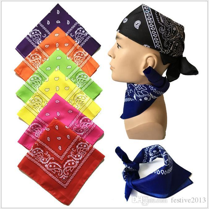 Squelette Bandana Hip-hop Sweat Cashew Flower Cotton Scarf Outdoor Absorbent Cot