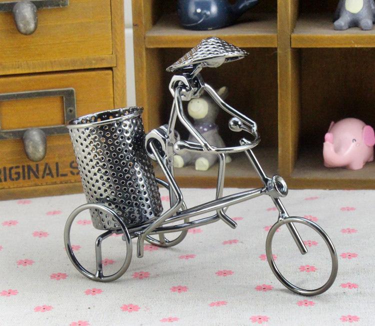 Handmade Pen Stand Designs : Handmade crafts bikecycle pen holder design