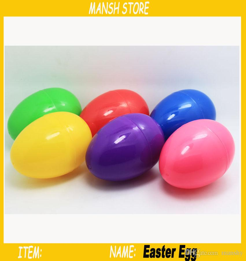 Colorful plastic easter eggs 46cm suprise eggs capsule for party colorful plastic easter eggs 46cm suprise eggs capsule for party dough candy gumball gifts plastic easter egg easter eggs egg capsule online with negle Choice Image
