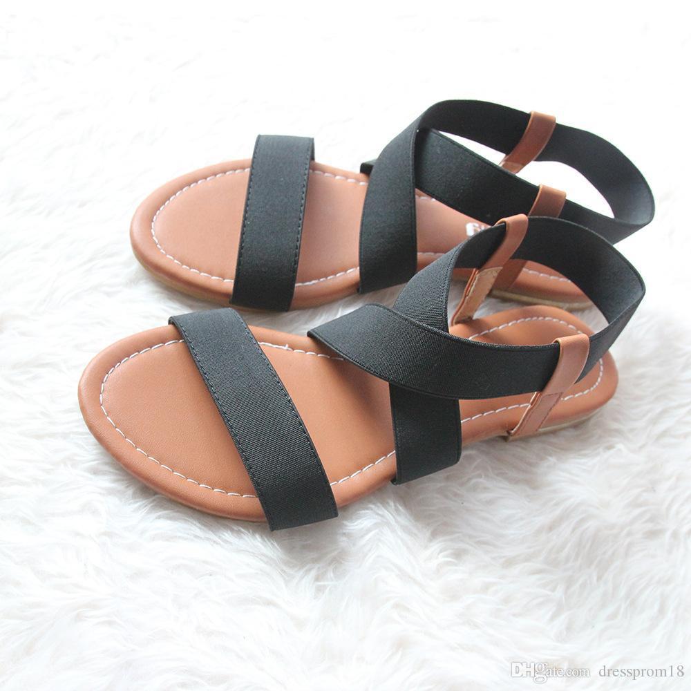 Black sandals juniors - 2016 Black Flat Sandals For Women Party Crisscross Strap Open Toe Summer Cutout Beach Wear