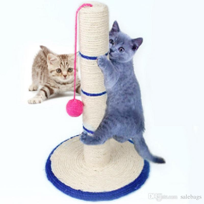 New design cat toys cat furniture scratcher swinging the ball pet tree animal products for cat - Designer cat scratcher ...
