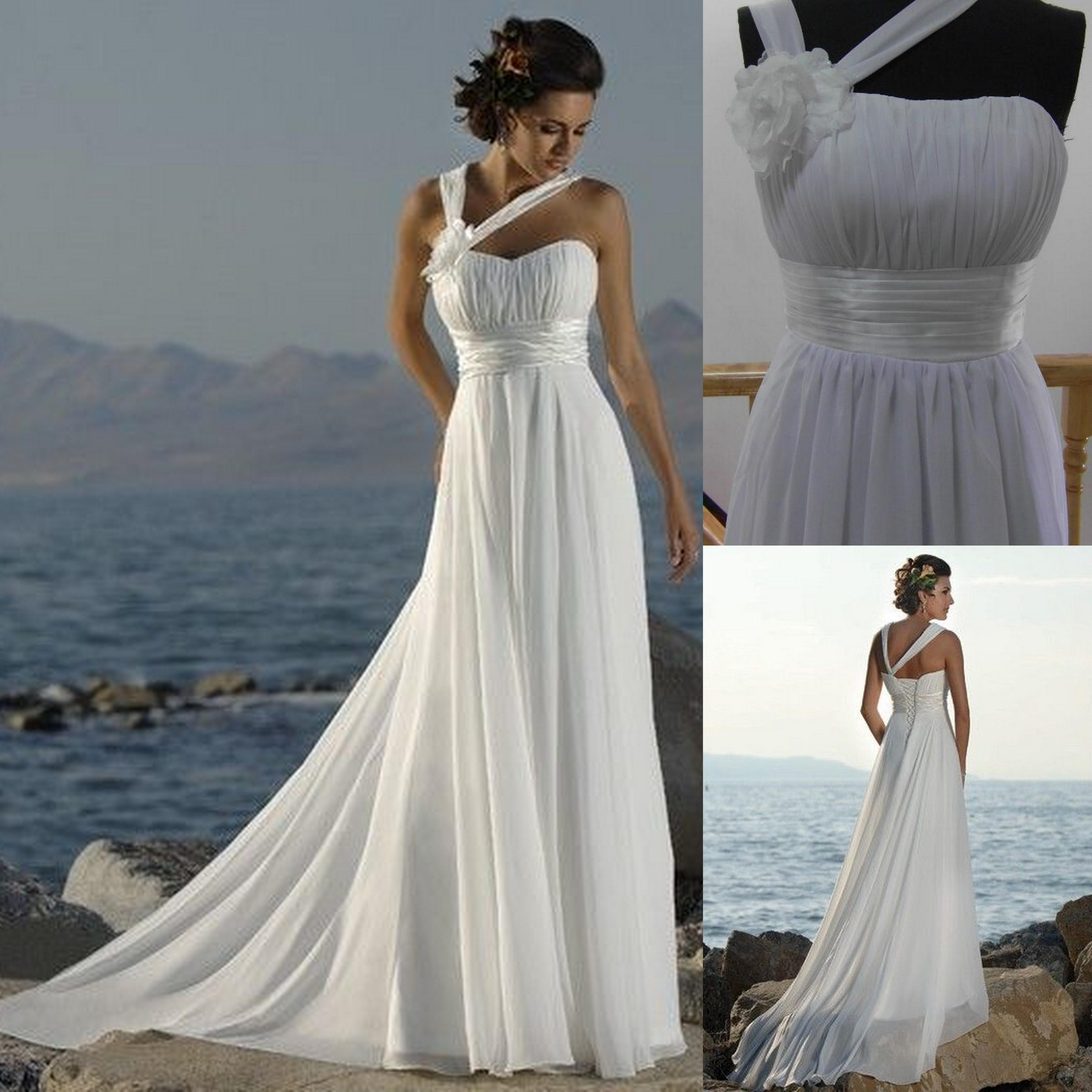 Discount White 2016 Chiffon Ivory Cheap Wedding Dress