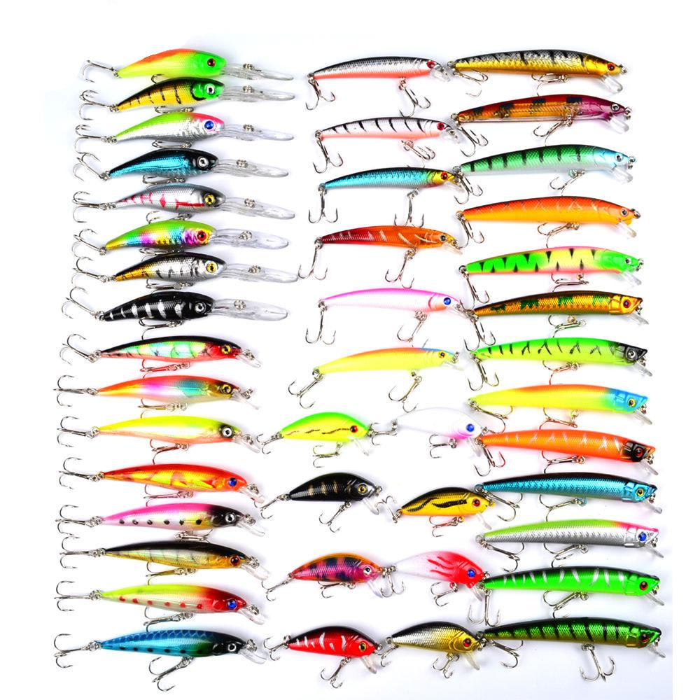 Hot new wholesale mixed models fishing lures 43 clolor mix for Wholesale fishing bait