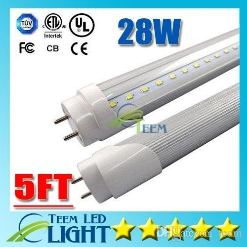 CE UL + 5 pieds 5ft FA8 G13 R17D 1.5m LED 1500mm Lights Tube 28W 2800Lm 85-277V