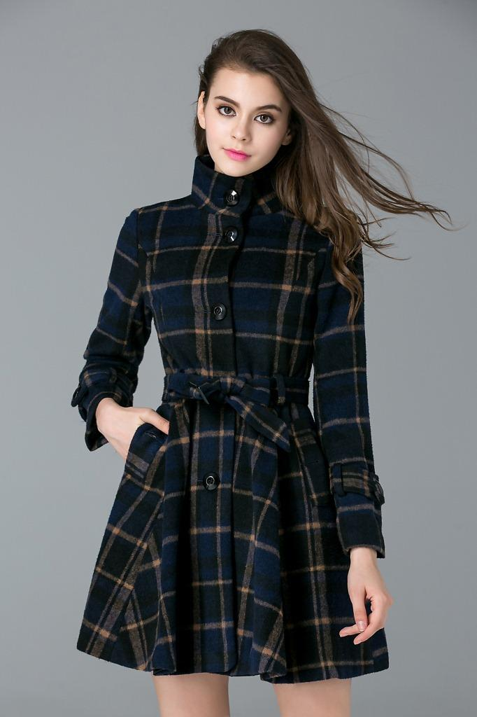 Women's Trench Coats Autumn Winter New Slim Single Breasted ...