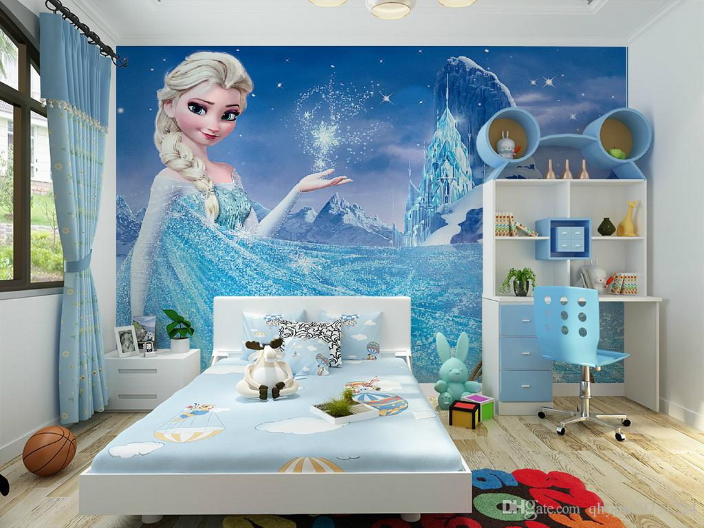 Modern children 39 s room wallpaper non woven fairy tale for Children s mural wallpaper