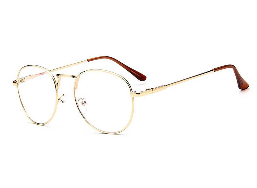 dking retro eyewear metal women large oversized pretty thin men clear lens glasses frame