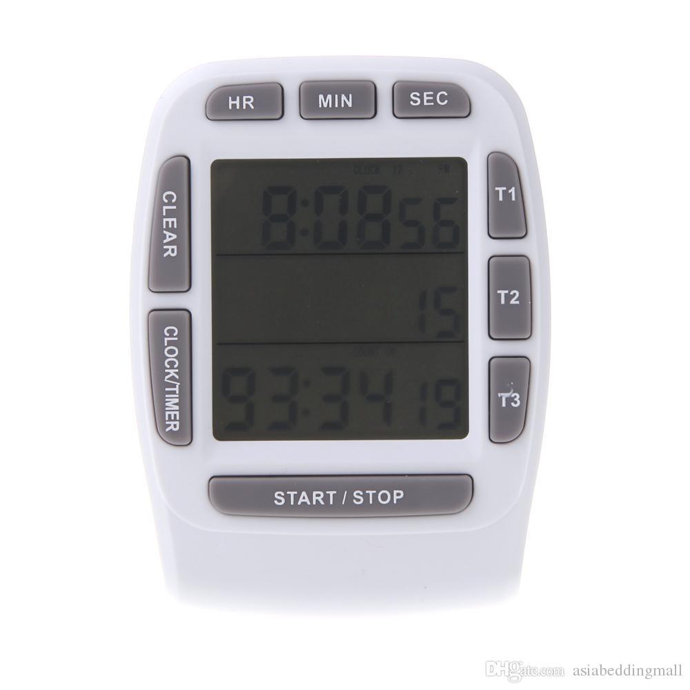 European Kitchen Gadgets Lcd Digital Alarm Kitchen Timer With Triple Display 3 Line