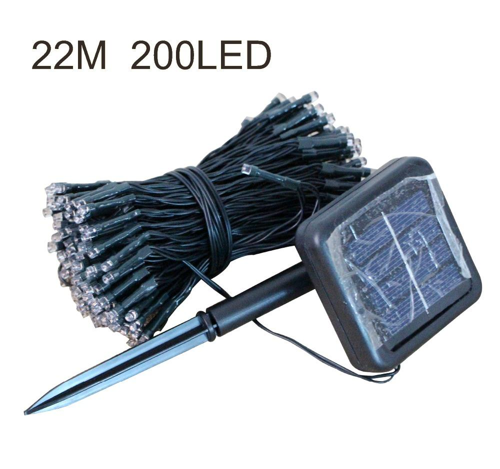 Wholesale 200 Led Christmas Lights Bulb Solar Led String Lights Fairy Xmas 22m Waterproof ...