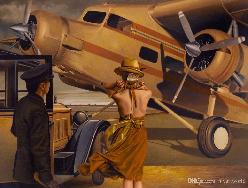 Couple aircraft hd art print original oil painting on canvas high couple aircraft hd art print original oil painting on canvas high quality home wall decormulti sizeframed hd print art high quality thick canvas multi amipublicfo Choice Image