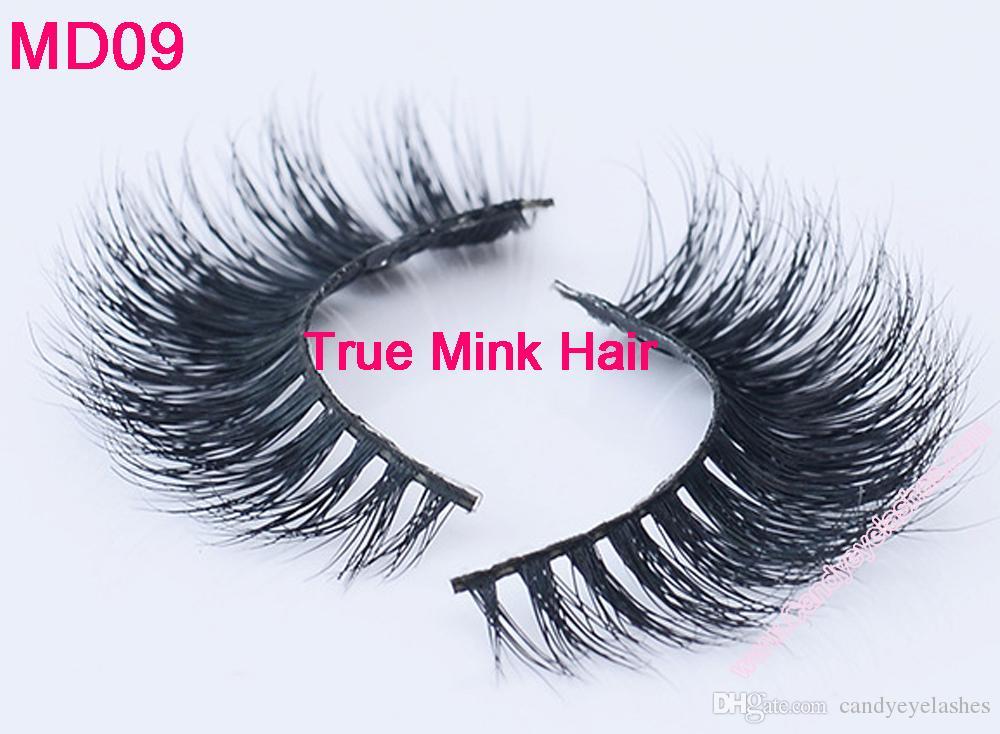 MD09 Mink Eyelashes Wholesale 2016 New Stlye Natural 3D 100% Real ...