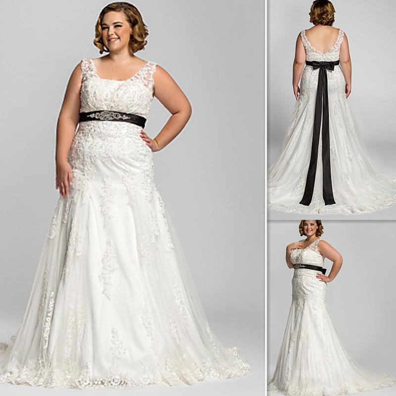 Discount 2016 plus size wedding dresses ivory tulle for Plus size black dresses for weddings
