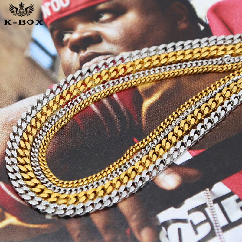 Cuban Chain Platinum: 3mm/5mm Wide Men'S Women'S 24k Gold/Platinum Plated Cuban