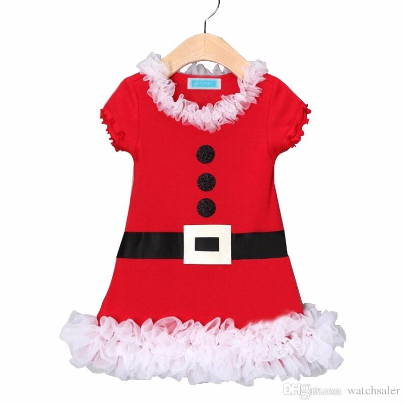 Xmas Decor Baby Girls Dress Toddler Christmas Dress Outfit