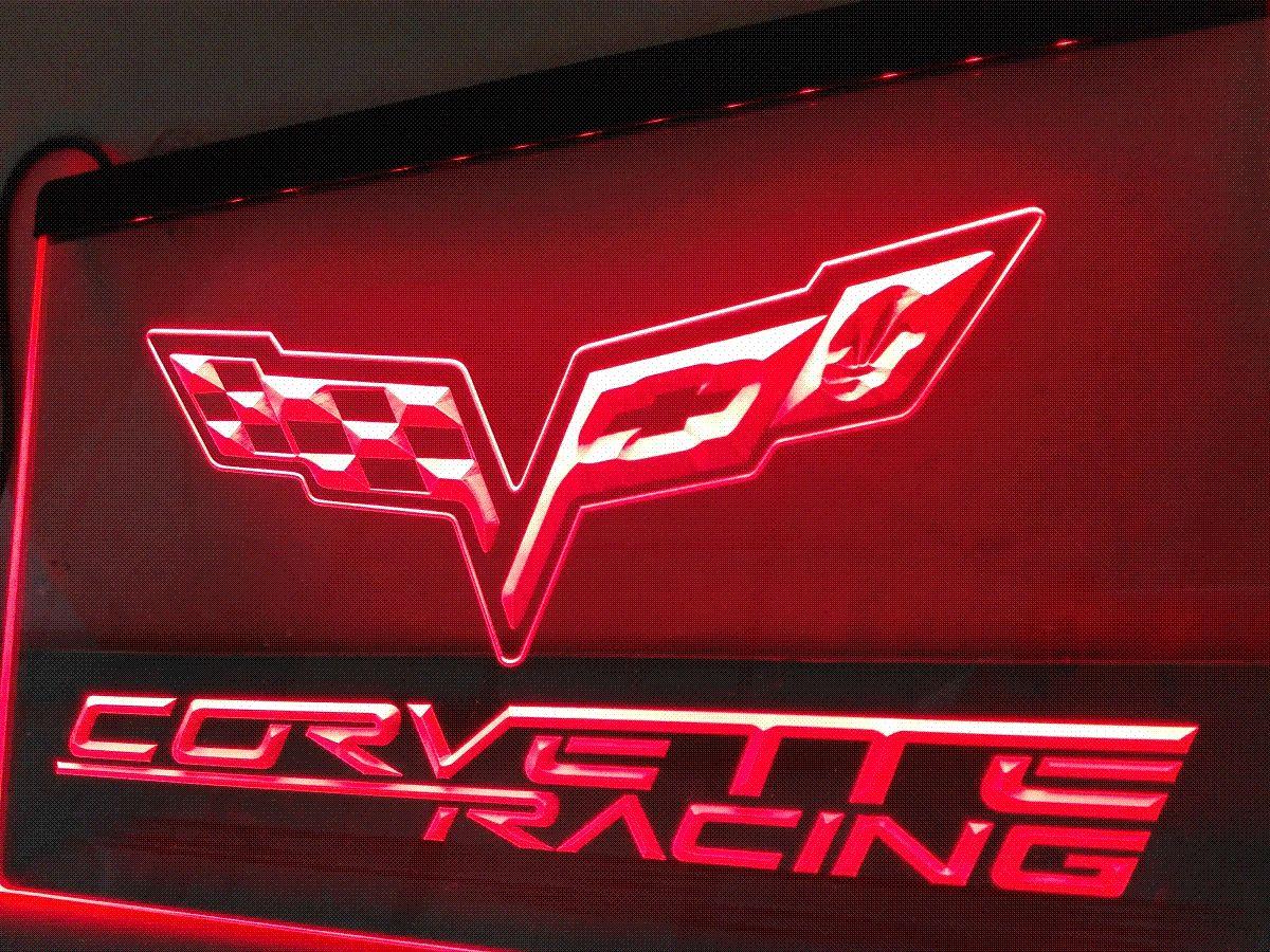 Lg095 Chevrolet Corvette Led Neon Light Sign Hang Sign Home Decor Crafts Light Supplier