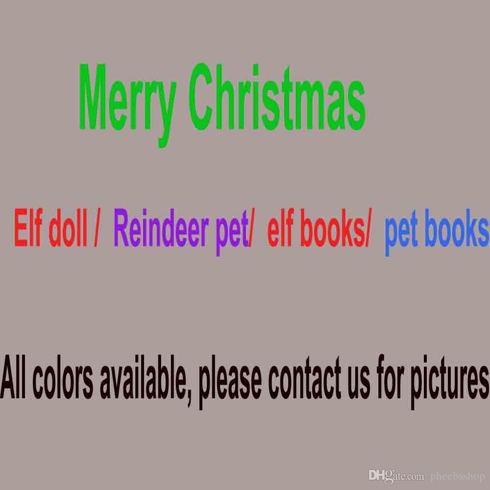 christmas elf doll plush toys elves xmas dolls soft back books