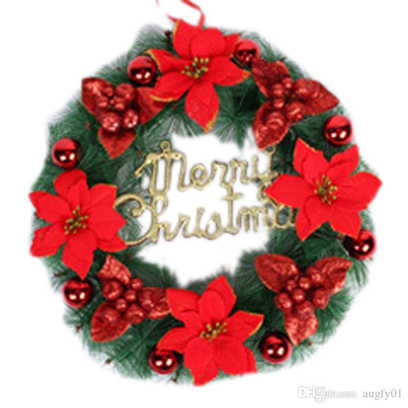 2016 christmas wreath pine needles christmas decoration for Christmas decoration sales 2016