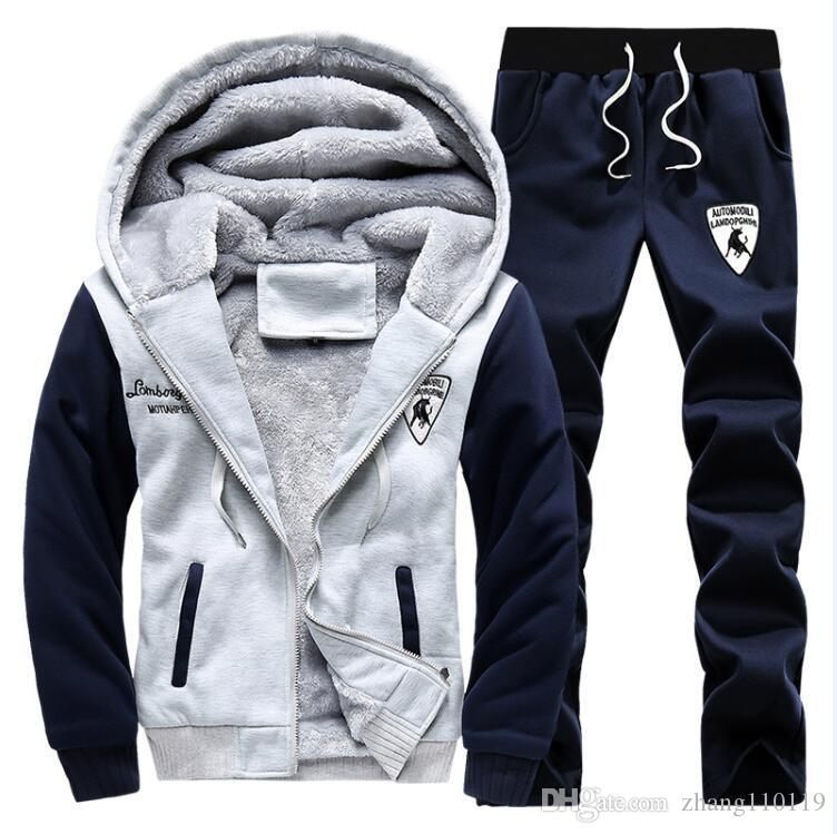 2016 polo winter men set hoodies sport tracksuit for mens sweat suits