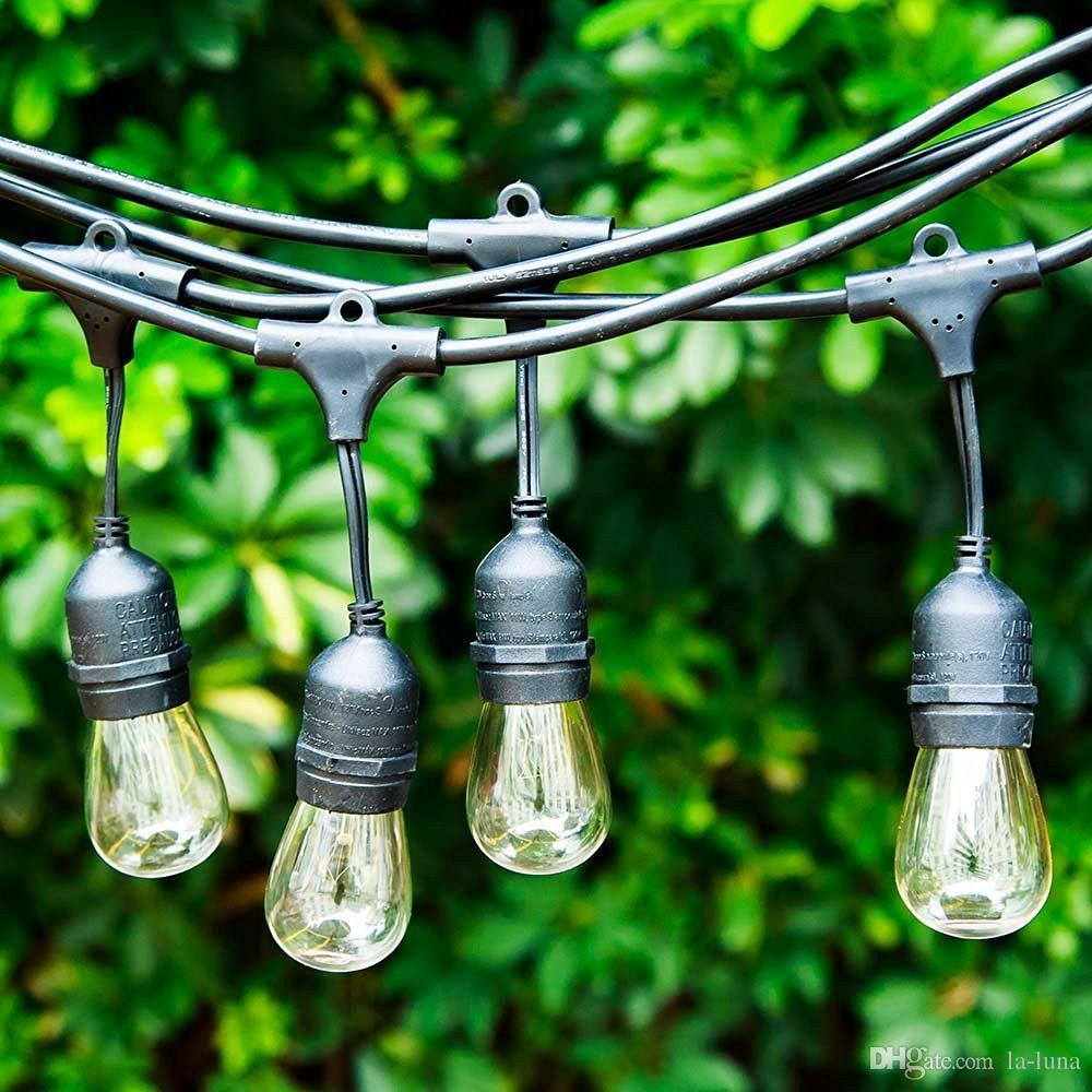Quality Outdoor String Lights : Outdoor String Lights Backyard Light Pro Watherproof Commercial Quality Bistro Festoon Garden ...