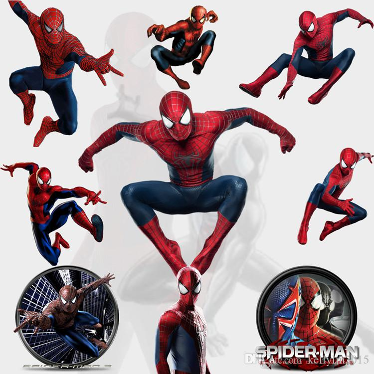 2016 hot 3d spiderman wall sticker for kids rooms - Poster mural spiderman ...