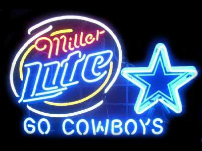 2017 new miller lite dallas cowboys glass neon sign light for Dallas cowboys arts and crafts