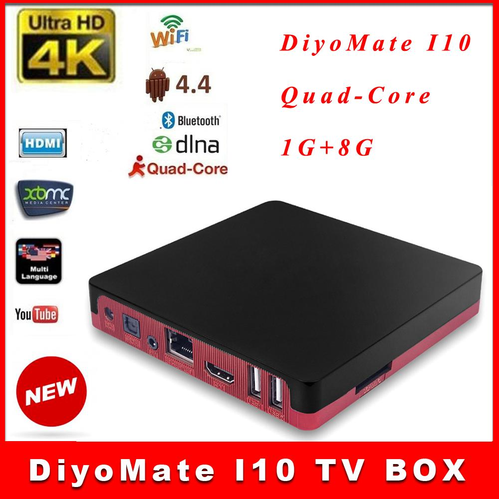 DiyoMate I10 Android4.4 TV BOX KODI 16,1 1G / 8G CortexA7 Quad Core 1.6GHz Ultra