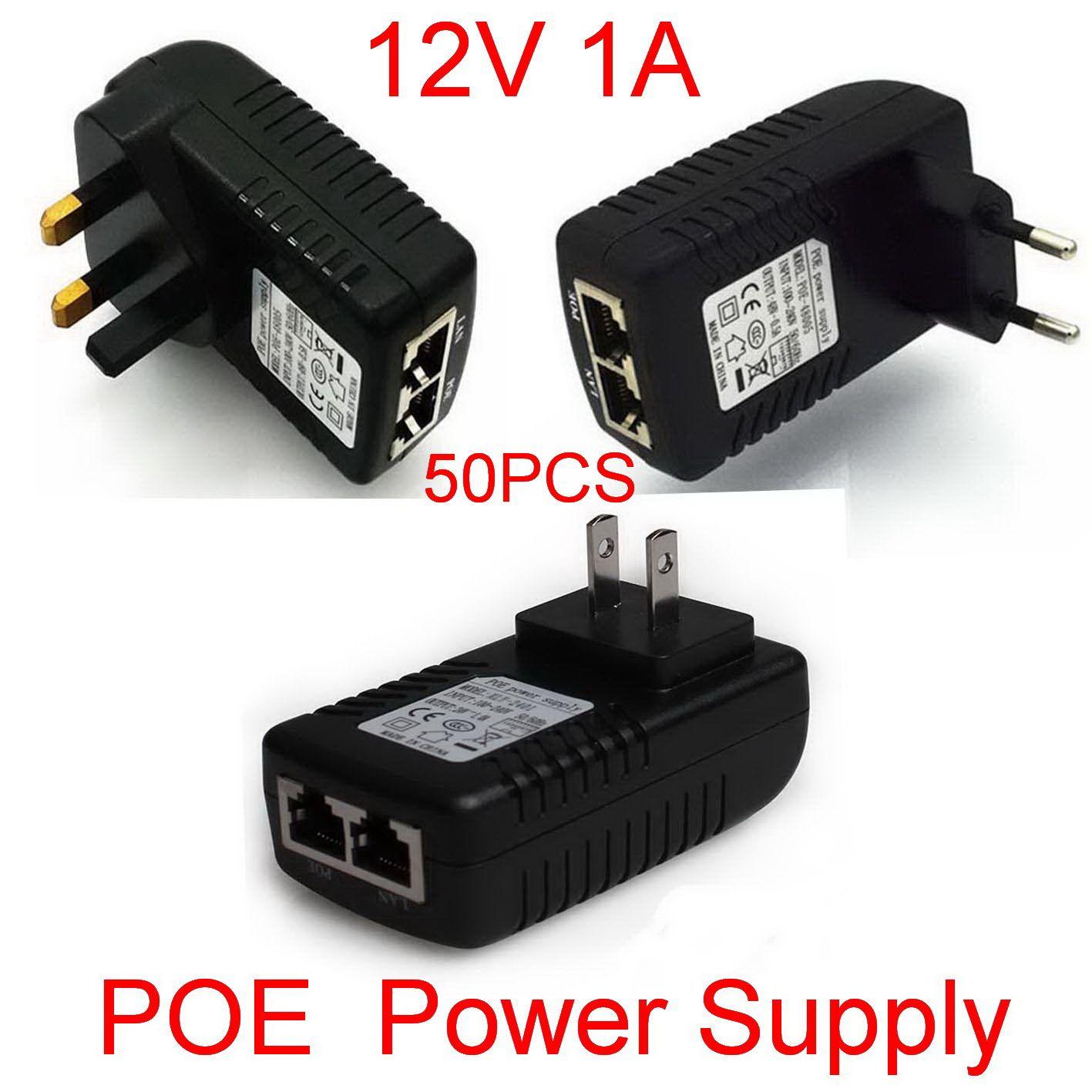 high quality dc 12v 1a wall plug poe injector ethernet adapter ip 50pcs high quality dc 12v 1a wall plug poe injector ethernet adapter ip phone camera