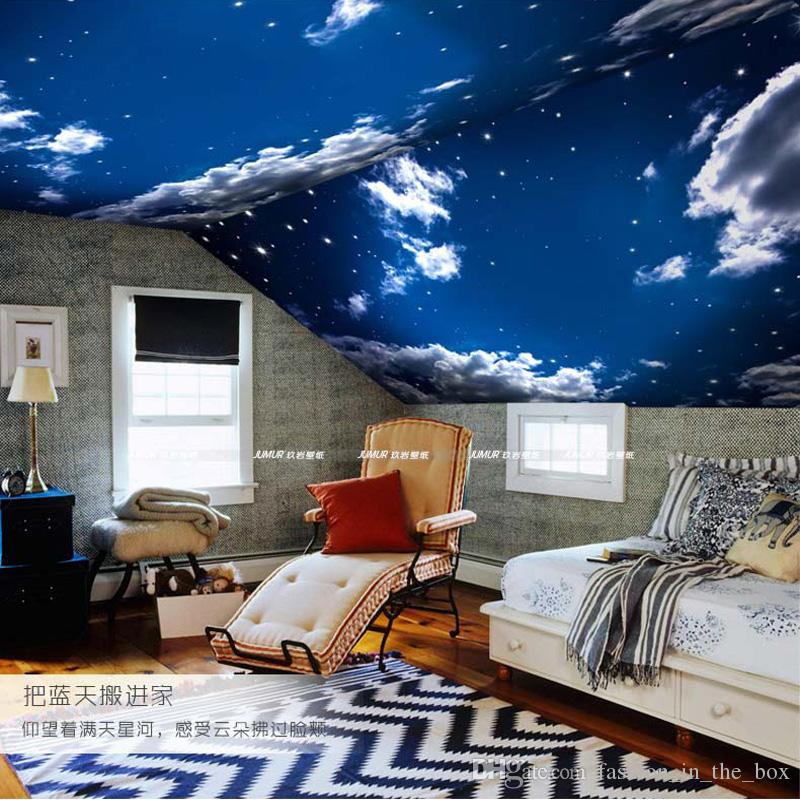 Modern 3d Wallpaper Blue Sky White Clouds Photo Wallpaper Bedroom Living Room Decor Tv
