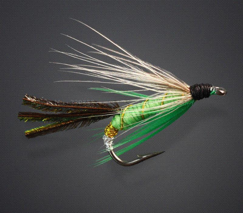 Salmon and trout dry wet flies fly fishing lures fishing for Types of fly fishing flies