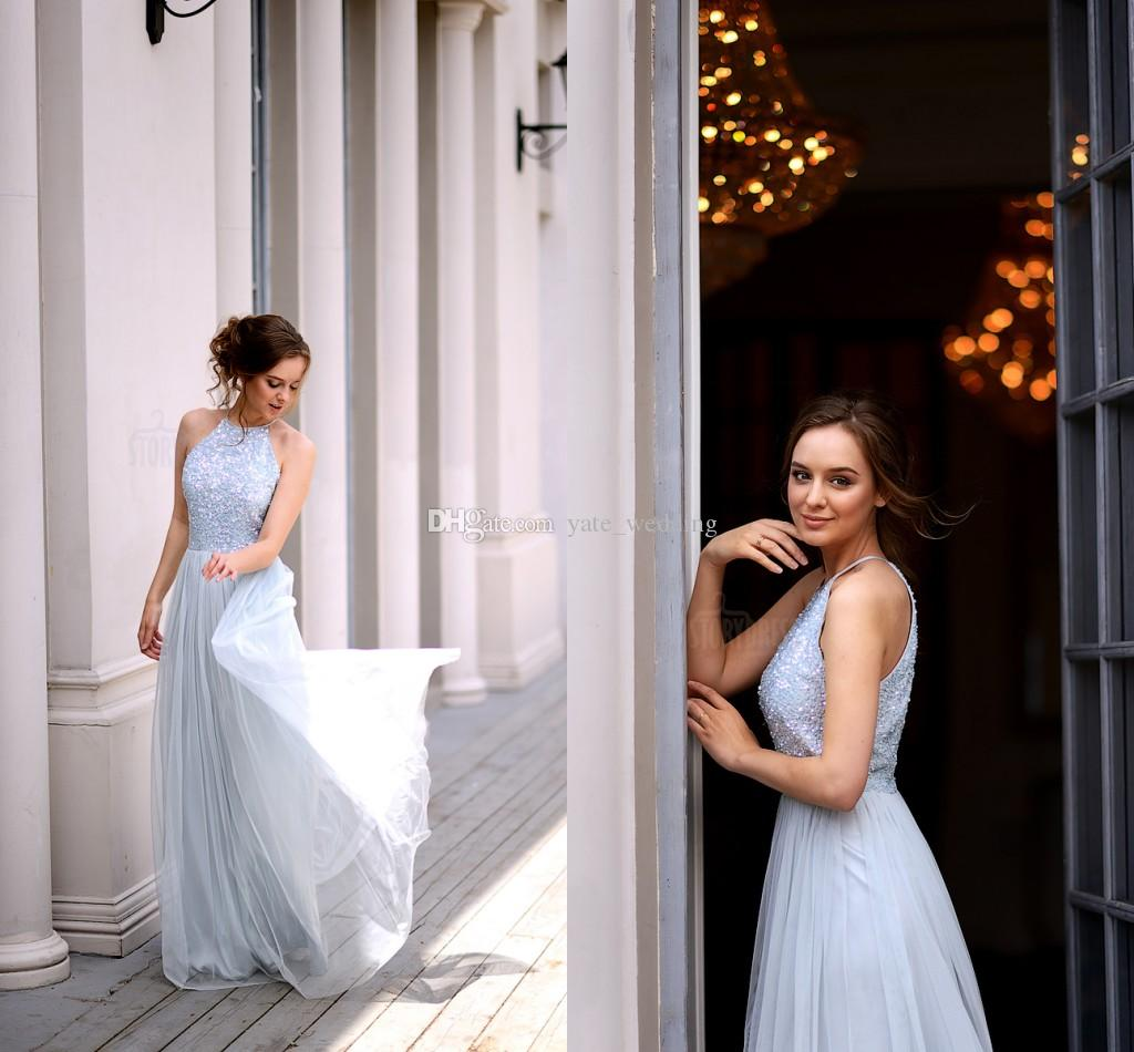 Charming baby blue sequin tulle bridesmaid dresses jewel charming baby blue sequin tulle bridesmaid dresses jewel sleeveless floor length light blue bridesmaid gowns wedding guest dresses 2018 bridesmaid dresses ombrellifo Gallery