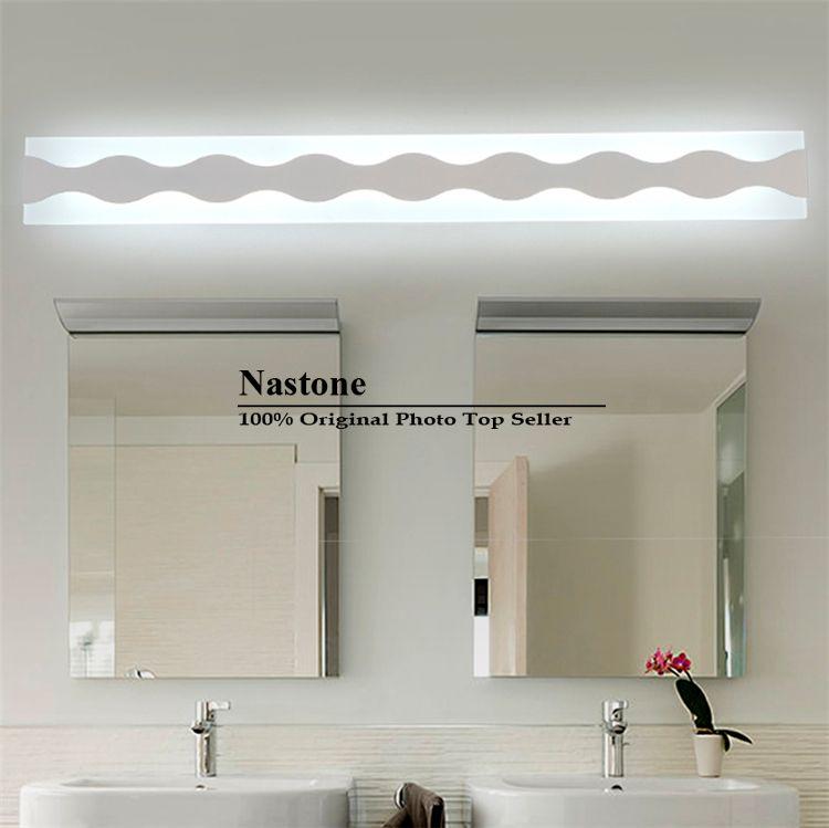 W mirror lights modern makeup dressing room