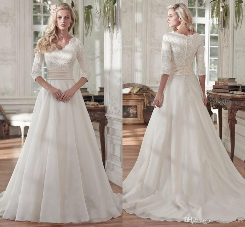 Discount 2016 Newest Simple Elegant Chiffon Wedding Dress
