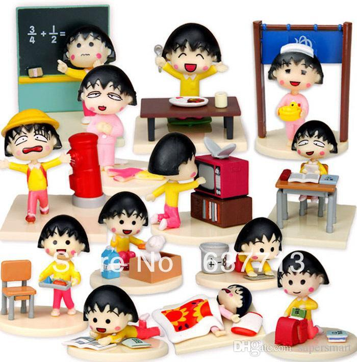 Cartoon Chibi Maruko Chan Pvc Action Figure Sakura Momoko