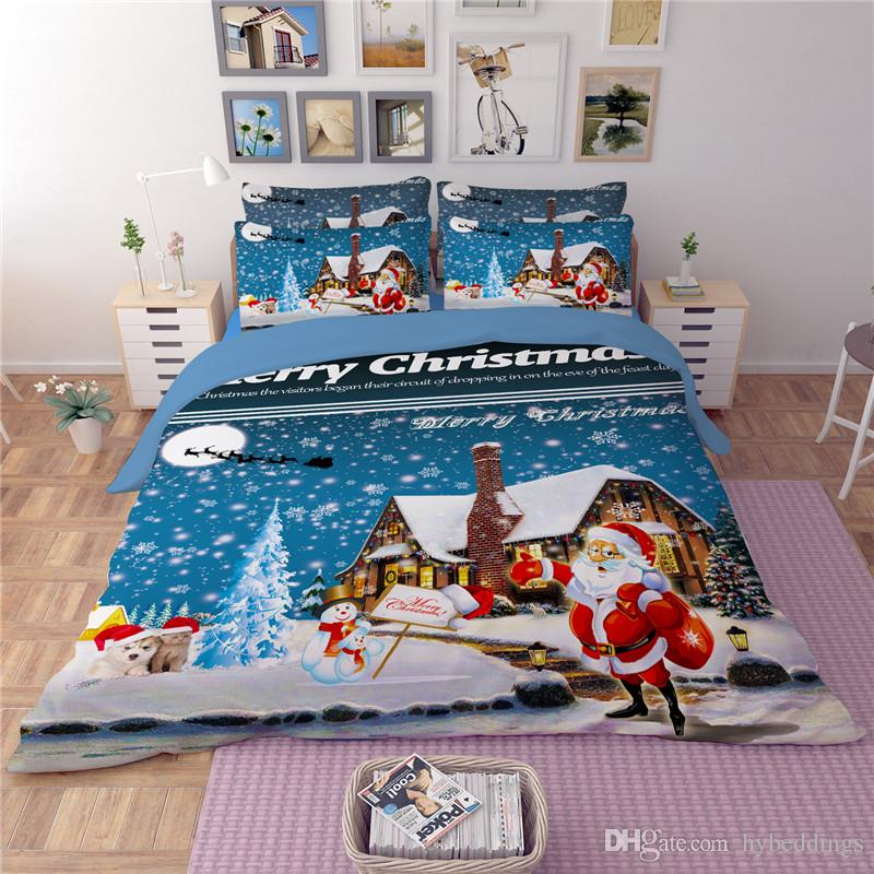 christmas eve 3d printed bedding set kids santa claus duvet cover bed sets twin full queen king size bedding supplies christmas bedding sets christmas kids