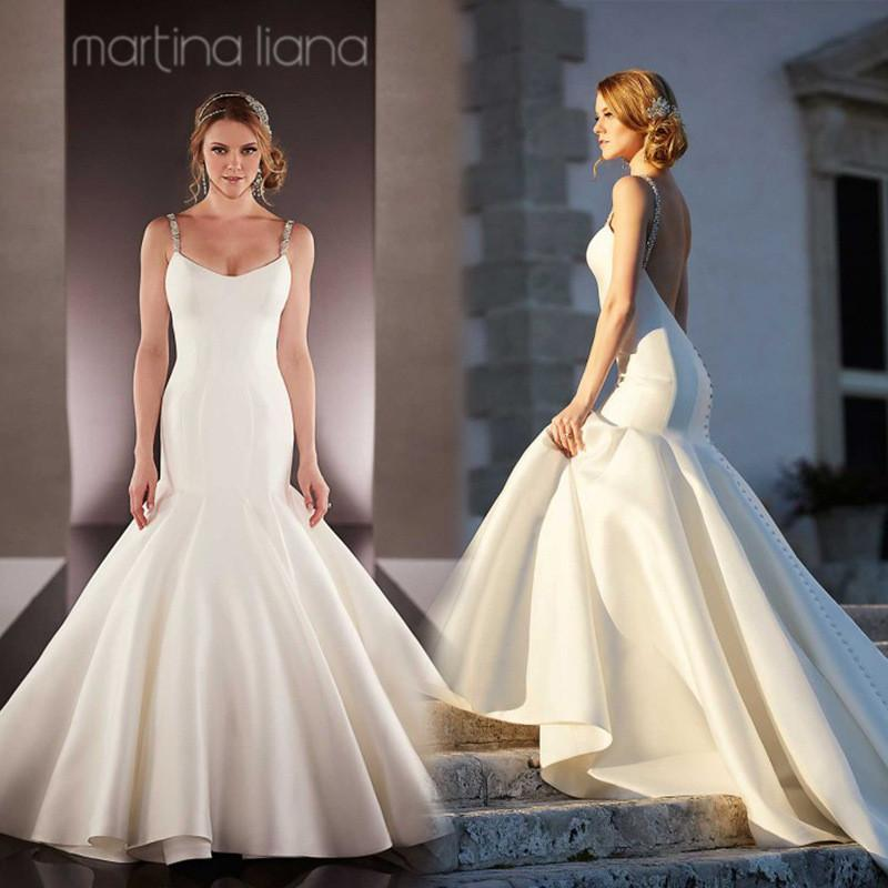 2016 simple new backless mermaid wedding dresses new for Simple wedding dress design