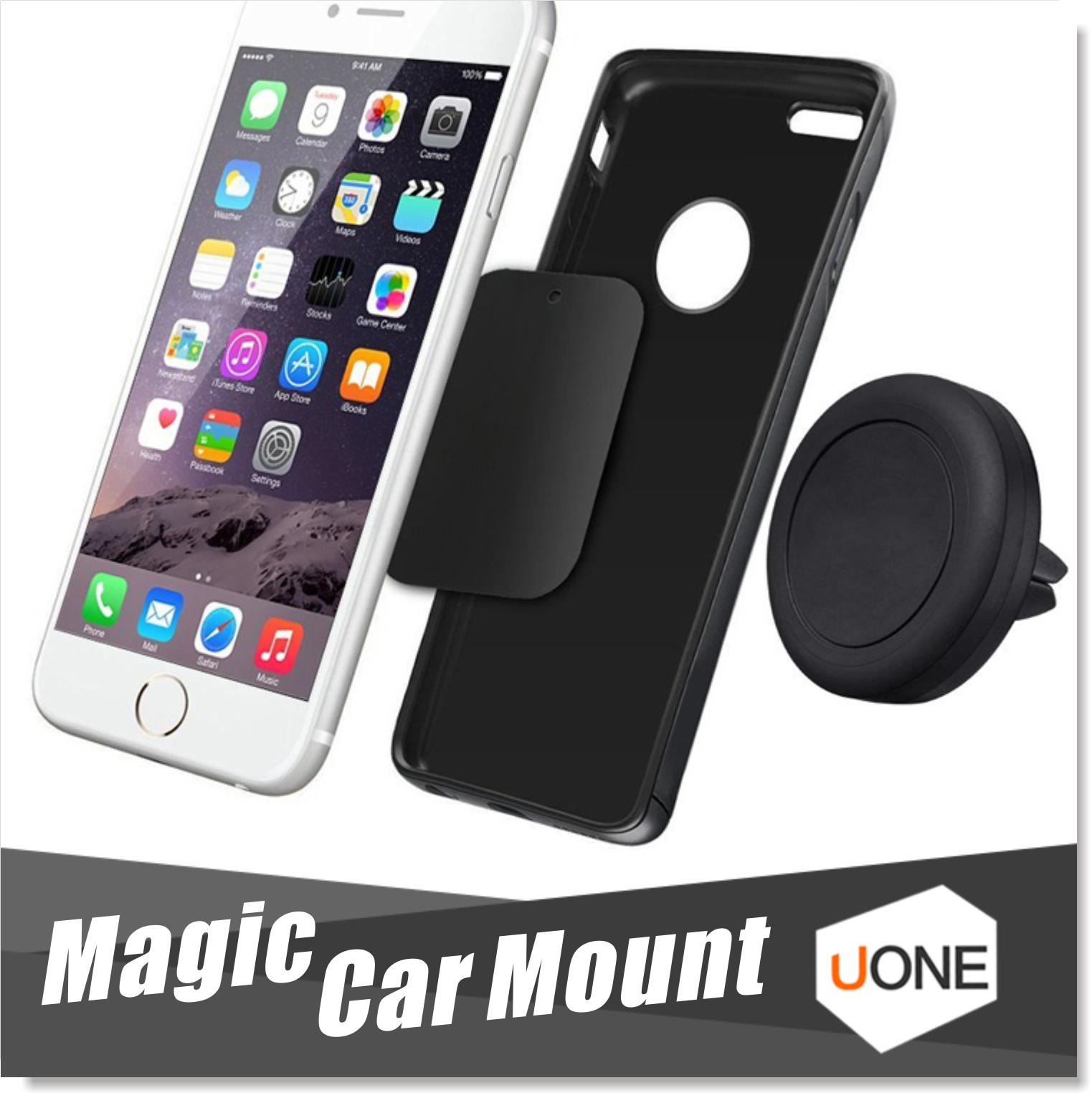 Car mount air vent magnetic universal car mount phone holder for iphone 6 6s one step mounting reinforced magnet easier safer driving cell phone car holder