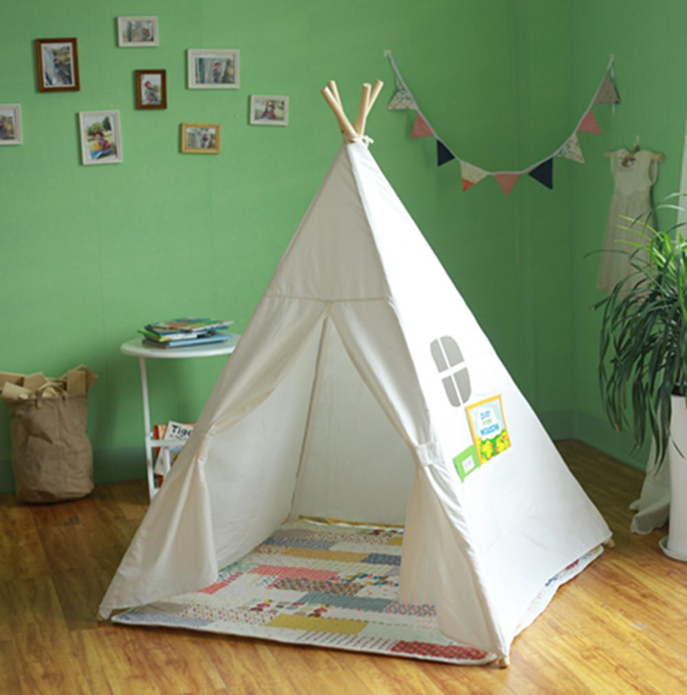 Kid'S Authentic Giant Canvas India Teepee Tripod Play Tent ...