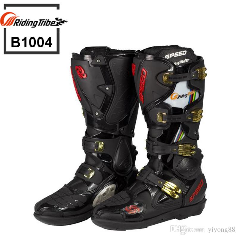 2017 Motorcycle Boots Riding Tribe Speed Bikers Moto Racing Boots ...