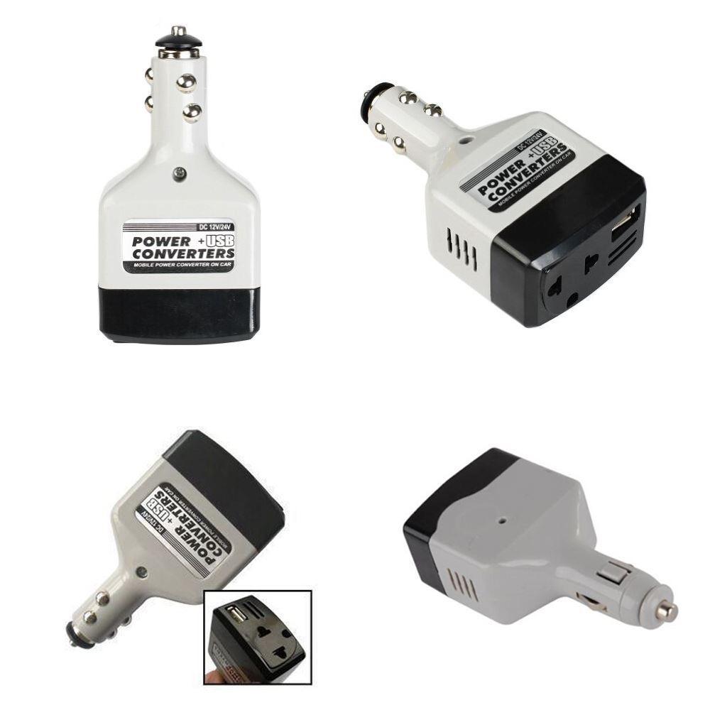 car inverter convertisseur 24v 12v 220v car power inverter converter adaptor car charge with usb. Black Bedroom Furniture Sets. Home Design Ideas