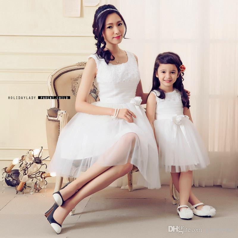 Birthday Outfit For Mom: Mother And Daughter Dress Children Girl Birthday Party