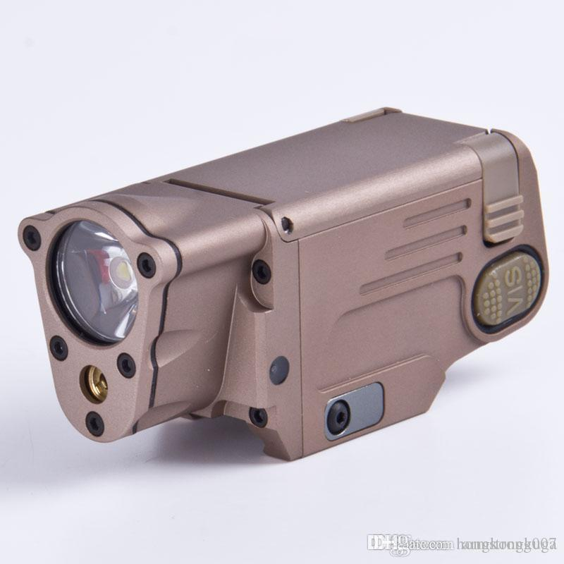 Tactical Cnc Sbal Pl Led Flashlight With Red Laser Pistol/Rifle ...